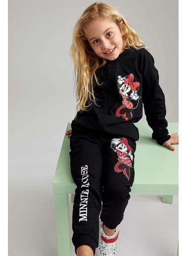 DeFacto Kız Çocuk Minnie Mouse Lisanslı Pijama Altı Siyah